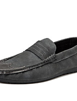cheap -Men's Shoes PU Spring Fall Moccasin Loafers & Slip-Ons for Casual Black Gray Red