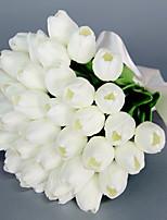abordables -Fleurs artificielles 1 Une succursale Mariage / Fleurs de mariage Tulipes Fleur de Table