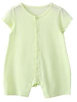 preiswerte -Baby Unisex Solide Kurze Ärmel Anzug & Overall