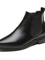 Недорогие -Жен. Обувь Полиуретан Наступила зима Армейские ботинки Ботинки На толстом каблуке Заостренный носок Ботинки Черный