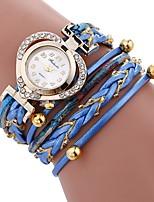 baratos -Mulheres Bracele Relógio Chinês imitação de diamante / Relógio Casual PU Banda Heart Shape / Elegant Preta / Branco / Azul