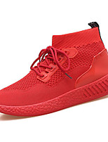 cheap -Men's Shoes Tulle Spring Comfort Sneakers Black / Red / Black / Red