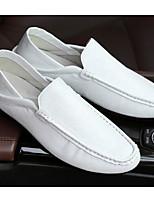 Недорогие -Муж. обувь Полиуретан Весна Мокасины / Удобная обувь Мокасины и Свитер Белый / Черный / Коричневый
