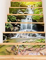 abordables -Autocollants muraux décoratifs - Autocollants muraux 3D Paysage / A fleurs / Botanique Salle de séjour / Bureau / Bureau de maison
