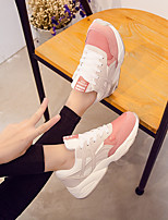 cheap -Women's Shoes PU Summer Comfort Sneakers Flat Heel for Casual Gray Green Pink