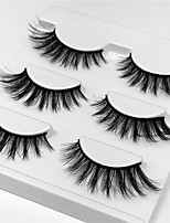 cheap -Eye 1pcs Natural / Curly Daily Makeup Full Strip Lashes / Thick Make Up Professional / Portable Portable / Pro Daily / Date 1cm-1.5cm