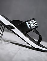 cheap -Men's Shoes Synthetic Microfiber PU Summer Comfort Slippers & Flip-Flops Black