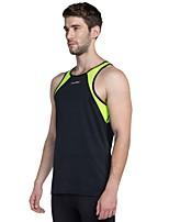 abordables -Homme Tee-shirt de Course - Noir, Vert Des sports Débardeur Gymnastique Sans Manches Tenues de Sport Léger, Respirabilité Elastique