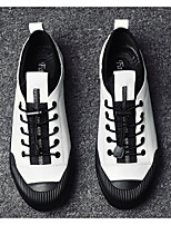 cheap -Men's Shoes Cowhide Spring Comfort Sneakers White / Black / Silver