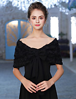 cheap -Sleeveless Chiffon Wedding / Party / Evening Women's Wrap With Flower Capelets