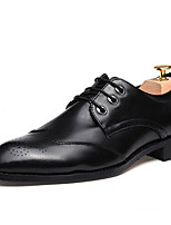 cheap -Men's Shoes Patent Leather / Customized Materials / Leatherette Winter Comfort Oxfords Black / Gray / Burgundy