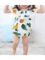 cheap -Baby Girls' Print Sleeveless Romper