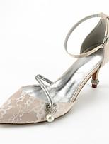 preiswerte -Damen Schuhe Spitze Sommer Komfort / D'Orsay und Zweiteiler Hochzeit Schuhe Konischer Absatz Spitze Zehe Strass / Schleife / Glitter