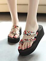 preiswerte -Damen Schuhe EVA Sommer Komfort Slippers & Flip-Flops Creepers für Schwarz Beige Blau