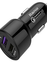 baratos -Carregador Automotivo Carregador USB do telefone Universal Output Múltiplo QC 3.0 2 Portas USB 3A DC 12V-24V