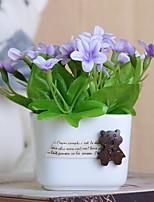 baratos -Flores artificiais 1 Ramo Rústico Azaléia Flor de Mesa