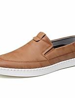 cheap -Men's Shoes PU Fall Comfort Loafers & Slip-Ons Gray / Light Brown / Khaki