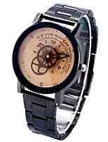 Недорогие -Жен. Кварцевый Наручные часы Китайский Секундомер / Творчество / Крупный циферблат сплав Группа Кольцеобразный Черный