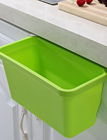 cheap -Kitchen Cleaning Supplies Plastic Waste Bins Simple 1pc