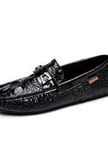 Недорогие -Муж. обувь Наппа Leather Весна / Лето Мокасины Мокасины и Свитер Черный
