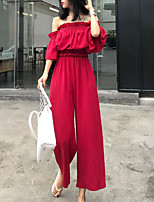 cheap -Women's Boho / Street chic Flare Sleeve Set - Solid Colored Pant