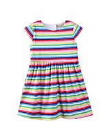 cheap -Kids / Toddler Girls' Striped / Rainbow Short Sleeve Dress