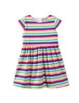 cheap -Kids / Toddler Girls' Striped / Rainbow Short Sleeve Dress