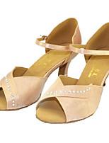abordables -Femme Chaussures Latines Soie Talon Utilisation Entraînement Talon Aiguille Rose Chair