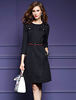 cheap -SHIHUATANG Women's Holiday / Work Slim Sheath Dress - Striped / Spring