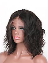 cheap -Virgin Human Hair Wig Brazilian Hair Wavy 130% Density With Baby Hair Natural Short Women's Human Hair Lace Wig
