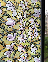 abordables -Film de fenêtre et autocollants Décoration Mat Fleur PVC Autocollant de Fenêtre Mat