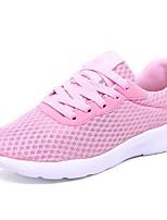 Недорогие -Жен. Обувь Тюль Лето Удобная обувь Кеды На плоской подошве Круглый носок Черный / Лиловый / Розовый