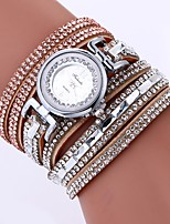 cheap -Women's Bracelet Watch Chinese Imitation Diamond / Casual Watch PU Band Bohemian / Fashion Black / White / Blue