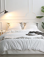 preiswerte -Bettbezug-Sets Solide Baumwolle Jacquard / Polyester Applikation 4 Stück