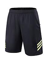 baratos -BARBOK Unisexo Shorts de Corrida - Preto / Branco, Preto / verde, Black / azul Esportes Sólido Shorts Roupas Esportivas Secagem Rápida,