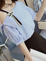 abordables -Tee-shirt Femme, Rayé Glands Basique