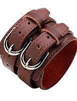 abordables -Bracelets en cuir - Mode Bracelet Blanc / Noir / Café Pour Cérémonie / Plein Air