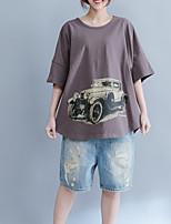 abordables -Tee-shirt Femme, Géométrique - Coton Ample