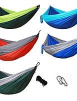 abordables -Hamac de Camping Extérieur Léger Nylon pour Randonnée / Camping / Voyage - 2 personne Orange / Bleu de minuit / Vert Véronèse