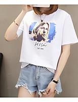 cheap -Women's Basic T-shirt - Geometric Print