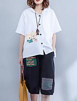 Недорогие -женская блузка - с капюшоном животных