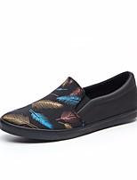 Недорогие -Муж. обувь Полотно Весна Удобная обувь Мокасины и Свитер Черный / синий / Черный / Желтый
