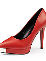 cheap -Women's Shoes Leather Spring & Summer Comfort / Basic Pump Heels Stiletto Heel Pointed Toe Black / Gray / Red / Party & Evening