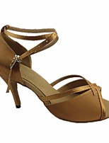cheap -Women's Latin Shoes Silk Heel Performance / Practice Stiletto Heel Dance Shoes Gold