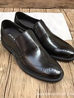 abordables -Homme Chaussures Cuir Cuir Nappa Automne Confort Mocassins et Chaussons+D6148 pour Bureau et carrière Noir Jaune