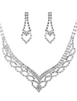 cheap -Women's Cubic Zirconia Jewelry Set - Classic, Vintage, Elegant Include Drop Earrings / Choker Necklace / Bridal Jewelry Sets Silver For Wedding / Party / Engagement