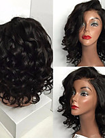 cheap -Remy Human Hair Lace Front Wig Wig Brazilian Hair Curly 150% Density 100% Virgin Women's Short Human Hair Lace Wig