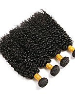 cheap -4 Bundles Brazilian Hair Kinky Curly Human Hair Natural Color Hair Weaves / One Pack Solution / Human Hair Extensions 8-28 inch Human Hair Weaves Best Quality / Hot Sale Natural Color Human Hair