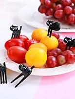 abordables -Outils de cuisine Plastique Adorable / Créatif Fourchettes Pour Fruit / Boules de riz 6pcs