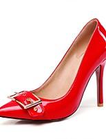 economico -Per donna Scarpe Vernice / Finta pelle Autunno Decolleté Tacchi A stiletto Appuntite Nero / Rosso / Tessuto almond / Matrimonio